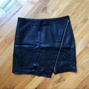 Zara leather skirt with size zip size XS